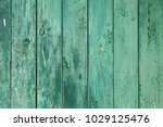 Texture Of A Green Wooden...