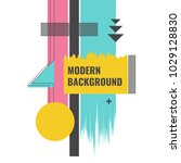 modern background with... | Shutterstock .eps vector #1029128830