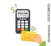 wireless method payment  nfc... | Shutterstock .eps vector #1029128833