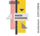 modern geometric background.... | Shutterstock .eps vector #1029128836