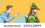 modern man and robin hood....   Shutterstock .eps vector #1029128899
