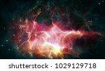 80s 90s futuristic galaxy game  ... | Shutterstock . vector #1029129718
