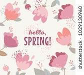 vector illustration of a spring ... | Shutterstock .eps vector #1029130960