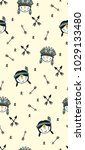 cute pattern for kids  girls... | Shutterstock .eps vector #1029133480