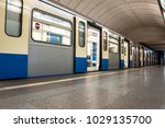 subway train stopped at the... | Shutterstock . vector #1029135700