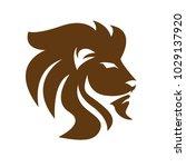 lion vector logo | Shutterstock .eps vector #1029137920