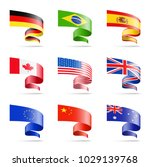 waving flags of popular... | Shutterstock .eps vector #1029139768