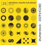 set 25 universal geometric... | Shutterstock .eps vector #1029141280