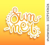 summer lettering sticker.... | Shutterstock .eps vector #1029143626