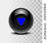 the magic ball of predictions... | Shutterstock .eps vector #1029145840