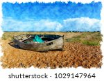 watercolour painting of an...   Shutterstock . vector #1029147964