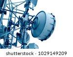 microwave transmitter antenna | Shutterstock . vector #1029149209