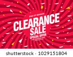 sale banner layout design | Shutterstock .eps vector #1029151804