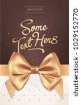 beautiful invitation or... | Shutterstock .eps vector #1029152770