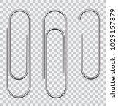 set of paperclips | Shutterstock .eps vector #1029157879