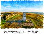 watercolour painting of the...   Shutterstock . vector #1029160090