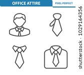office attire icons.... | Shutterstock .eps vector #1029164356