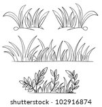 illustration of grass and plant ... | Shutterstock .eps vector #102916874