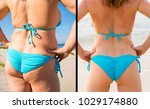 woman's buttocks before and...   Shutterstock . vector #1029174880