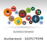 business woman flat icon... | Shutterstock .eps vector #1029179398