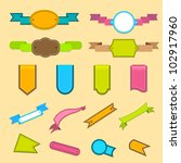 vector illustration of set of... | Shutterstock .eps vector #102917960