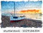 watercolour painting of a...   Shutterstock . vector #1029186304