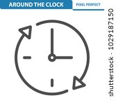 around the clock icon....   Shutterstock .eps vector #1029187150