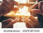 team hand power full  hand... | Shutterstock . vector #1029187243