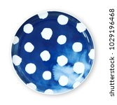 polka dot plates  plate with... | Shutterstock . vector #1029196468