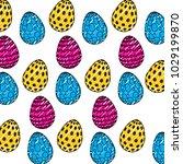 decorative easter eggs...   Shutterstock .eps vector #1029199870