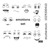 set of emotions | Shutterstock .eps vector #1029200410