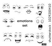 set of emotions | Shutterstock .eps vector #1029200410