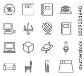 flat vector icon set   percent... | Shutterstock .eps vector #1029201640