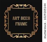 vintage retro golden frame in...   Shutterstock .eps vector #1029205144