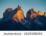 cuernos towers during sunrise.... | Shutterstock . vector #1029208354