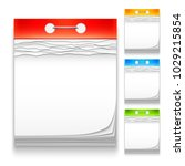 color calendars icons | Shutterstock .eps vector #1029215854