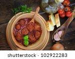 italian cooking    meat balls...   Shutterstock . vector #102922283