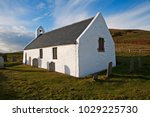 the church at mwnt dates back... | Shutterstock . vector #1029225730