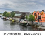editorial use only  boats on... | Shutterstock . vector #1029226498