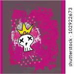 hand drawn emo skull vector on... | Shutterstock .eps vector #102922673