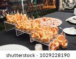 little plastic glasses with... | Shutterstock . vector #1029228190
