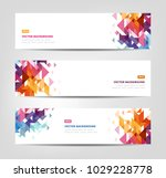 abstract banners   website... | Shutterstock .eps vector #1029228778