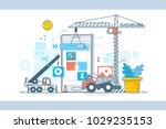 application display building... | Shutterstock .eps vector #1029235153