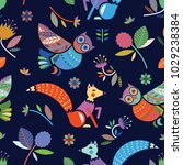 children's seamless pattern.... | Shutterstock .eps vector #1029238384