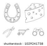 cheese with holes  a trolley... | Shutterstock .eps vector #1029241738