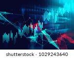 financial stock market graph on ... | Shutterstock . vector #1029243640