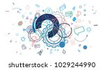 abstract trendy background with ... | Shutterstock . vector #1029244990