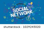 social network trendy creative... | Shutterstock . vector #1029245020
