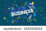 business theme trendy creative... | Shutterstock . vector #1029245023