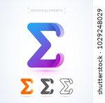 vector abstract letter e logo... | Shutterstock .eps vector #1029248029
